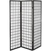 Black Rice Screen Room Divider